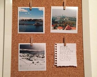 Portrait Framed Pinboard/ Cork Board / Memo Board / Notice Board / Framed Picture Holder