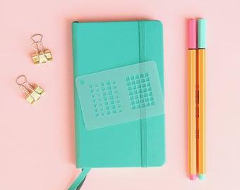 Planner Stencil, Bullet journal, Stencil planner, Planner template, Personal planner, habit tracker stencil, checklist stencil