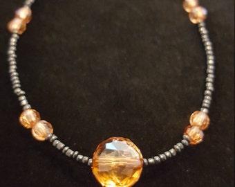 Amber Beaded Bracelet