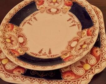 1930's Vintage Royal Vale tea saucer/bowl and dessert plate