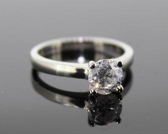 Natural 1.02ct Round Brilliant Cut Diamond Single Stone Ring
