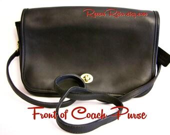 COACH PURSE | Convertible Clutch | Black | Leather | Vintage 1980's | Handbag