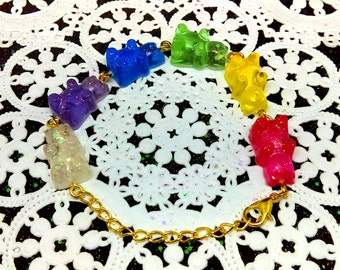 Rainbow Gummy Bear Bracelet