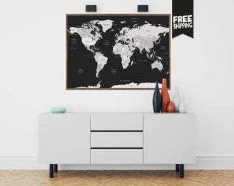 Sale push pin travel map world travels map map art world world map world map wall art world map print world map poster gumiabroncs Images