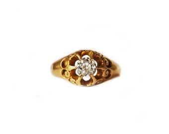 Victorian diamond solitaire ring, circa 1890.