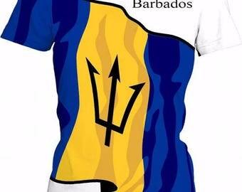 Barbados Ladies Flag Tee