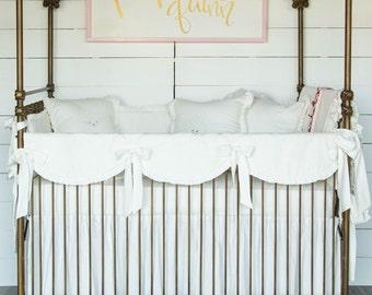 Cream Linen Baby Bedding Set