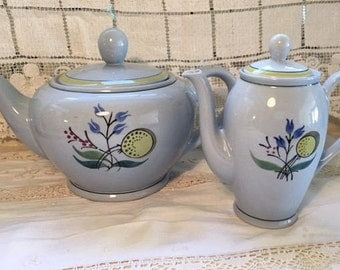 rare vintage Arabia Finland teapot and coffee pot set