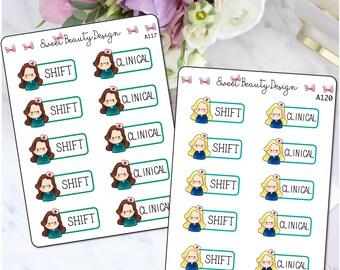 Nursing Planner Stickers, Nurse Clinical Sticker, Nurse Shift Sticker, Reminder Stickers, Scrapbook Sticker, Planner Accessories