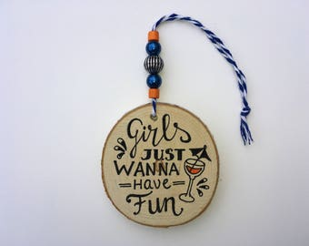 Wooden hanger • FUN • decoration-decoration-gift for her-girls-fun-words pendant-beads-beads-really miek