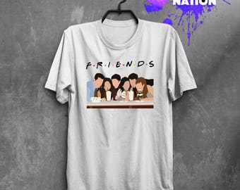 Friends Poster Cool TV Show Shirt Clothing Shirt Tee Friends TV Show Gift Quotes Friends Gift Movie Shirt Printed Tumblr Graphic Tee BF1052