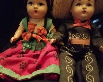 Pair of  dolls The Cisco Kid and Gal Pal
