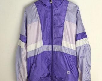 Windbreaker Leopard L XL 90s windbreaker Vintage windbreaker Retro purple windbreaker Colorblocking Vintage jacket men Windbreaker women XL