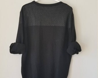 Minimal Black Mens Sweater