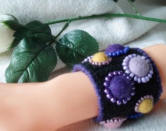 Crochet cuff bracelets