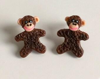 Monkey Stud Earrings