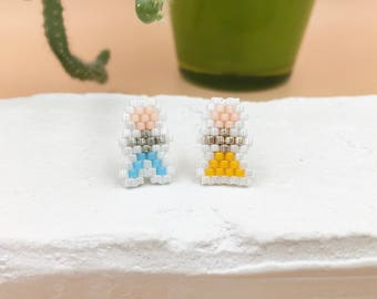 Mrs and Mr ear studs