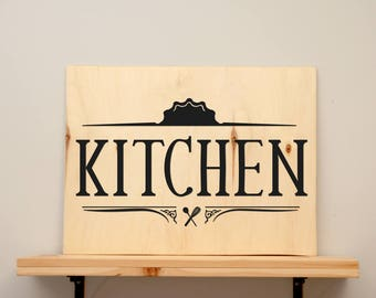 Kitchen - vinyl on varnished wood (choose from 2 sizes and a range of colours) - Home decor