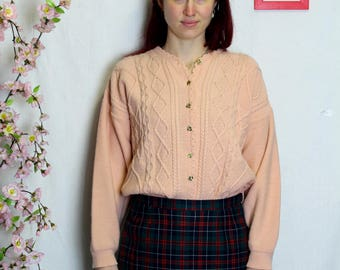 Cardigan old pink twisted gold buttons