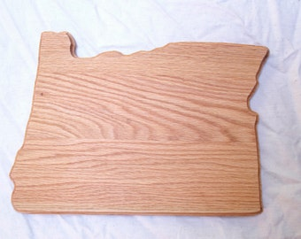 Oregon Shaped Oak Cutting Board