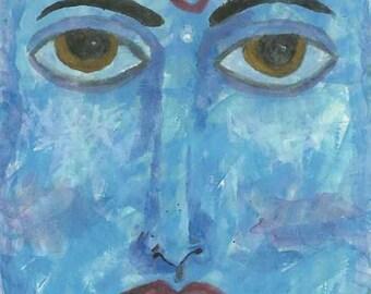 Vishnu Watercolor