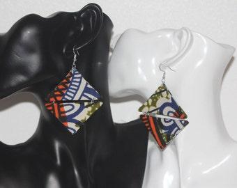 earrings, african fabric, ankara, jewellery,african earrings, ankara earrings, afrocentric earrings, fabric earrings