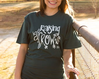 Christian T Shirt|Raising Arrows|Mom T Shirts|Women's T Shirt|Christian Gifts|Ladies T Shirt|T Shirts with Verses|Religious Shirts Women