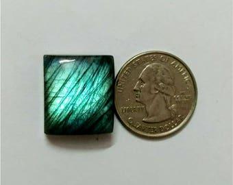 20.75 x 18.31mm, Octogen shape Labradorite Cobochon/Green blue Flash/wire wrap stone/Super Shiny/Pendant Cabochon/Semi Precious Gemstone