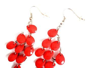 Handmade earrings with drops