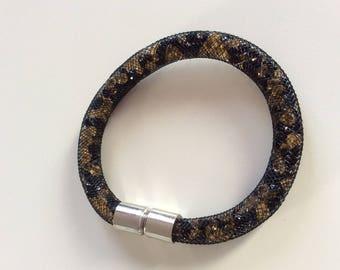 Black mesh bracelet