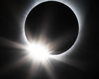 Total Solar Eclipse 2017 SMALL PRINTS Diamond Ring Effect Sun Moon Photograph Print Original