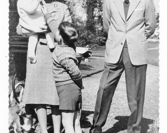 British Royal Family 1960s, real photo postcard
