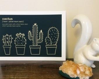Cactus Giclée A4 Art Print