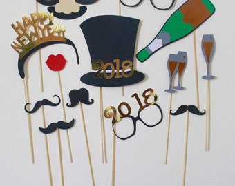 New Year Photo Booth Props; photo booth; New Year's Eve decorations; New Years props; New Years Hat; New Years crown