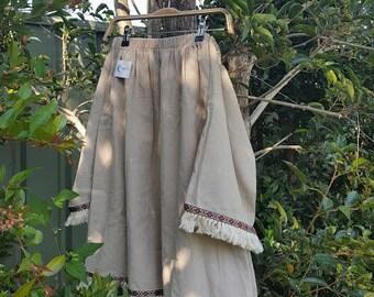 Summer Off Shoulder dress, Linen dress, Fringe dress