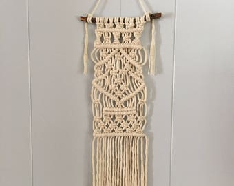 Miniature Traditional Wall Hanging Made With Cotton Cord - Perfect Tiny Home Decor!