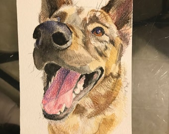 CUSTOM dog painting gift pet portrait