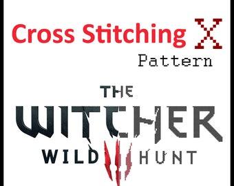 The Witcher 3 Logo Cross Stitch Pattern