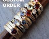 RESERVED for Lauren - Custom Made Purple Spinel and Recycled Rose Gold Ring - Made To Order