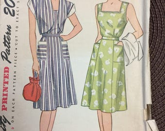 Vintage Sundress and Bolero Sewing Pattern 40's Simplicity 1653 Bust 36 Complete