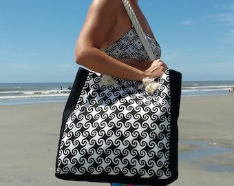 Beach Bag - Personalized Beach Bag - Monogram Beach Bag - Waterproof Lining - Pool Bag
