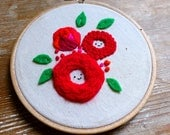 Embroidery Starter Kit DIY. Smiling Roses Beginners Embroidery Kit. DIY Needlecraft. Embroidered Roses. DIY Kid's craft. Mother's Day Gift
