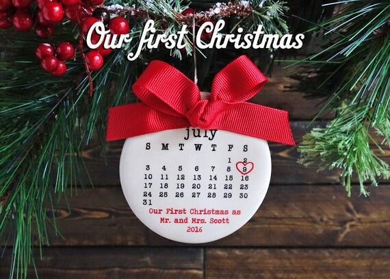 Christmas Ornament Wedding Gift: Items Similar To OUR FIRST CHRISTMAS Ornament, Our First