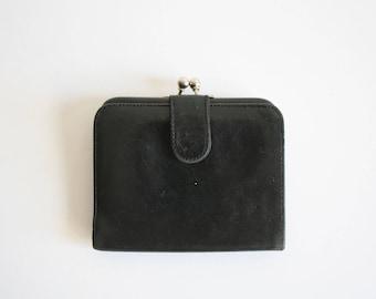 Black Kiss Lock Coach Wallet