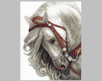 NEW UNOPENED Counted Cross Stitch Kit Charivna Mit BT-083 Ash-gray Horse