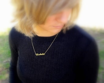 Name Necklace, Gold Name Necklace, Personalized Necklace Delicate Name Necklace custom necklace