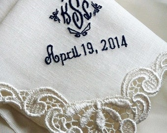 From Mother to Daughter Gift - Gifts To The Bride From Her Mother - Custom Wedding Hanky for Bride
