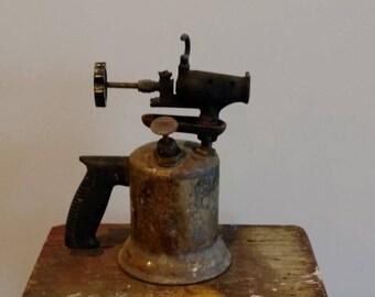 Brass Blow Torch Industrial Workshop Steampunk Garage Mancave Welding Tool