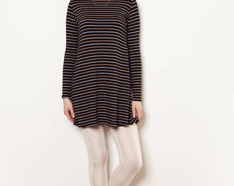 Long sleeve mock neck dress. Bamboo Rayon and Spandex.