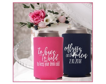 to have to hold drink cooler   keep your beer cold   Wedding Favors   Personalized Wedding Can Cooler   FREE Shipping